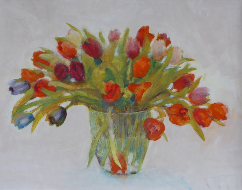 Tulpen op vaas
